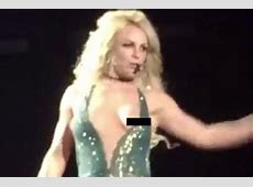 Britney Spears' boob pops out on stage in wardrobe