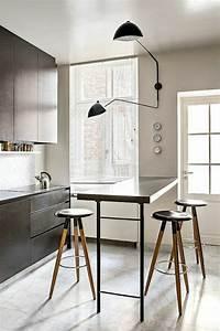 La table haute de cuisine est ce quelle est confortable for Roche bobois salle À manger pour petite cuisine Équipée