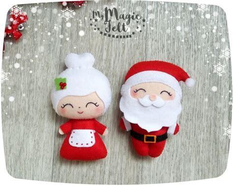christmas ornaments santa   claus ornament felt