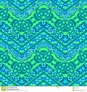 Ethnic Hand Drawn Pattern With Zigzag Lines Stock Images
