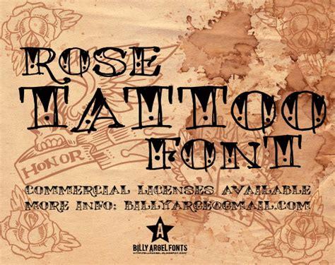 Rose Tattoo Font Dafontcom