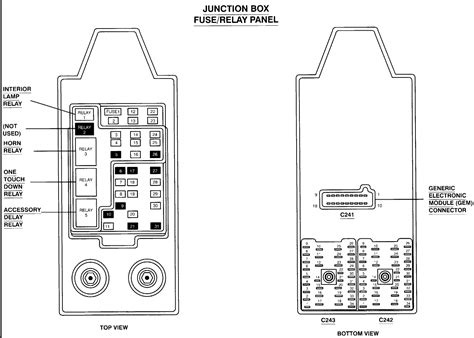 ford  super duty     fuse panel