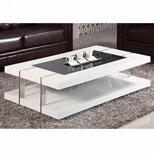 Table Salon Blanc Laqué : table basse laque blanc design design en image ~ Teatrodelosmanantiales.com Idées de Décoration