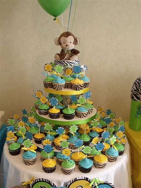 Jungle Baby Shower Party Ideas  Party Cupcakes, Baby