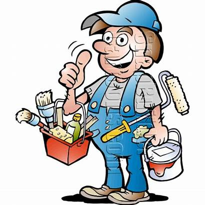 Handyman Painter Painting Supplies Worker Character