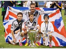 David Beckham final game Sons join star on pitch to say