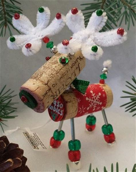 christmas cork idea images ornament ornaments and wine on