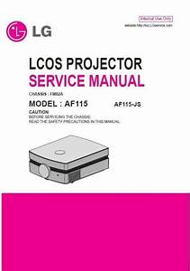 Lg Af115 Full Hd Home Cinema Projector Service Manual And
