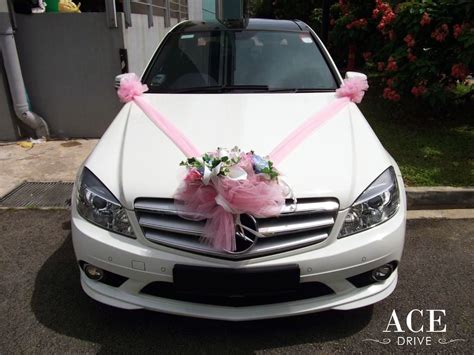 mercedes c180 cgi sport wedding car decorations