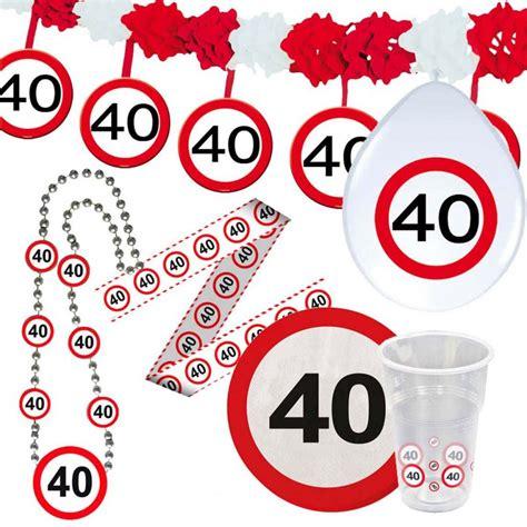 Geburtstag findest du hier zusammengestellt. 40. Geburtstag Verkehrsschild Party Deko Erwachsene ...