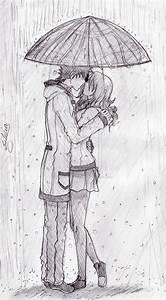 ...Kiss in the rain... by LobinhahChalegre on DeviantArt