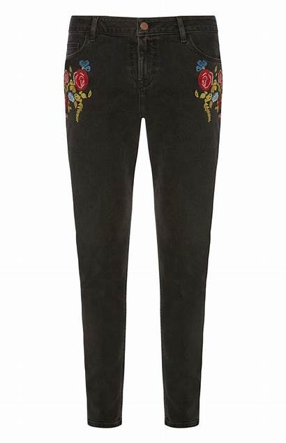 Primark Outfits Embroidered Jean Skinny Casual