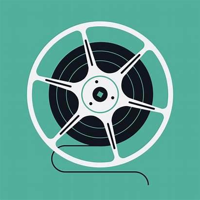 Reel Film Vector Cinema Clipart Graphics Vectors