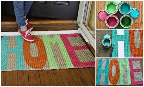 Create Your Own Colorful Welcome Door Mat