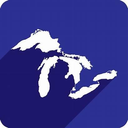 Lakes Silhouette Vector Icon Lake Superior Clip