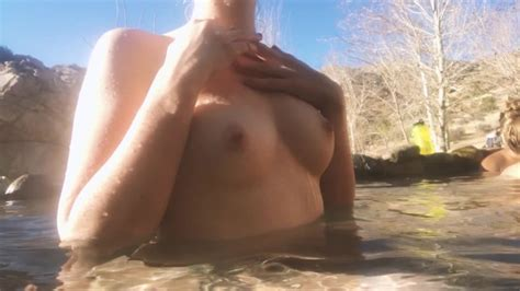 Heidiv Nude At The Hot Springs Public Teasing