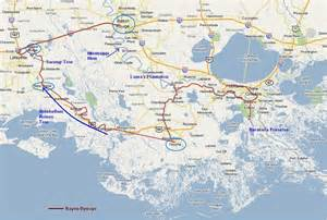New Orleans Bayou Map