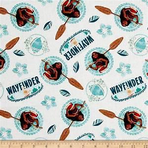 Disney Moana Wayfinder White - Discount Designer Fabric