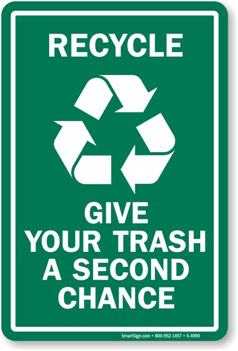plastic trash cans recycle give your trash a second chance aluminum sign sku