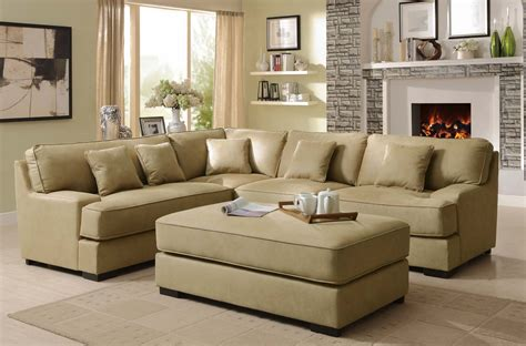 beige sectional sofa homelegance minnis sectional sofa set beige u9759nf sect