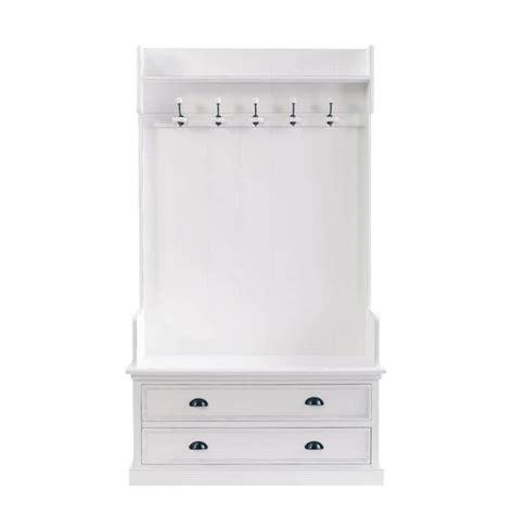 meuble d entr 233 e avec 5 pat 232 res en bois blanc l 110 cm newport maisons du monde