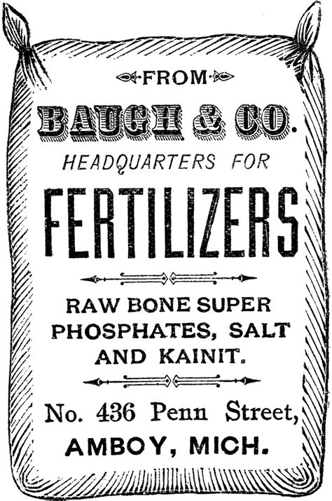 vintage fertilizer sack image  graphics fairy