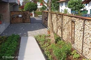 Holz sichtschutz windschutz bildergalerie bucher ag widnau for Französischer balkon mit beton kunst im garten