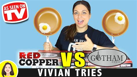 red copper  gotham steel copper pan review testing