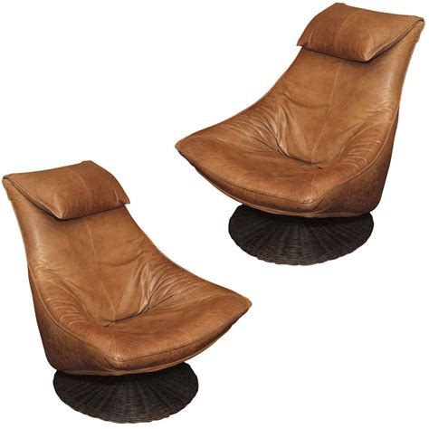 Leather Swivel Chair At 1stdibs by Pair Leather Swivel Chairs By Montis At 1stdibs