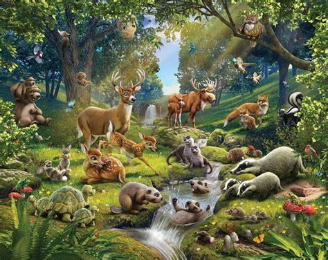 Woodland Animal Wallpaper Wallpapersafari