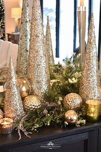 Silver, And, Gold, Glam, Christmas, Centerpiece