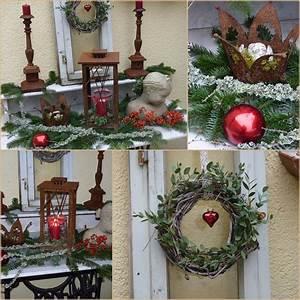 Weihnachtsdeko auf der terrasse wohnen und garten foto for Französischer balkon mit weihnachtsdekoration im garten
