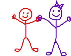 Stick Figure Friends Clip Art