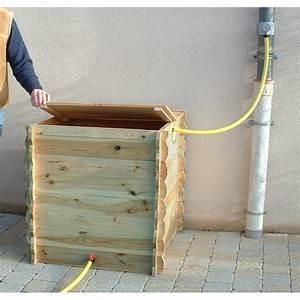 Recuperateur Eau De Pluie 1000 Litres : r serve d 39 eau de pluie en bois 420 litres ~ Premium-room.com Idées de Décoration