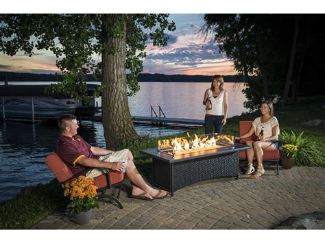 Choose from contactless same day delivery, drive up and more. Outdoor GreatRoom Montego 59.75 x 30 Rectangular Crystal Fire Pit Coffee Table with Black Wicker ...