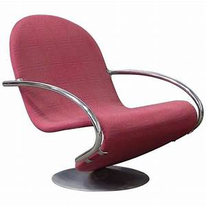Panton Chair Original : danish easy chair in red original upholstery for sale at ~ Michelbontemps.com Haus und Dekorationen