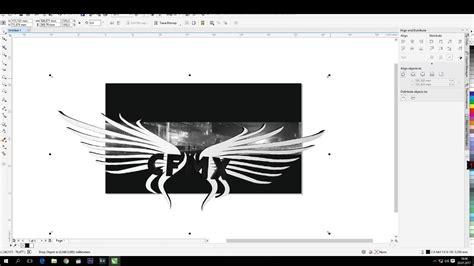 corel draw  banner speedart banner size youtube