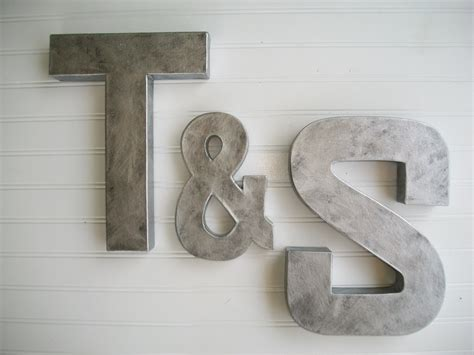 rustic letters for wall painted letter wall letters zinc metal by