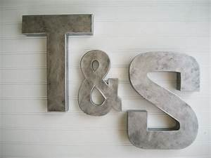 painted letter wall letters zinc metal by With letters for your wall