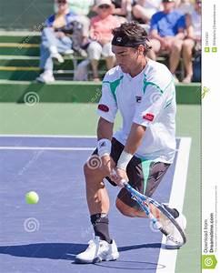 Fabio Fognini At The 2010 BNP Paribas Open Editorial Photo ...
