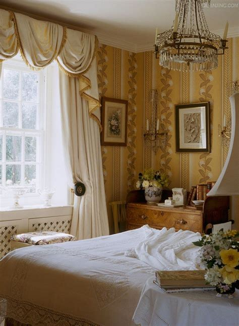 Bedroom Wallpaper Country by Soft Yellow And White Cottage Bedroom With