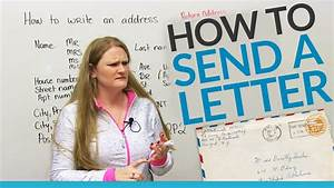 How to send a letter in English - YouTube