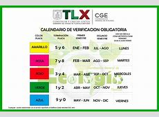 Calendario De Verificacion Tlaxcala 2016 New Style for