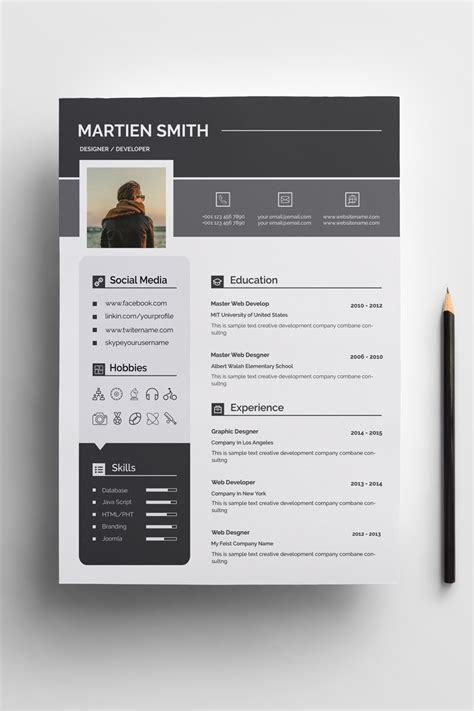 Resume Template Smith by Smith Clean Resume Template 73597
