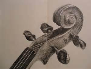 Violin Scroll Drawing
