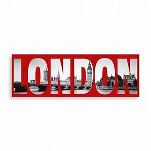 london wall art in red With london wall art