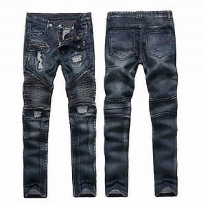 Motorrad Jeans Slim Fit : new fashion style motorcycle cool men moto biker jeans ~ Kayakingforconservation.com Haus und Dekorationen