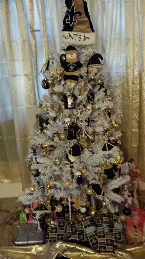 new orleans saints white christmas tree my new orleans