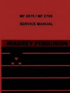 Massey Ferguson Mf 2675 2705 Mf2675 Mf2705 Tractor Shop Service Manual