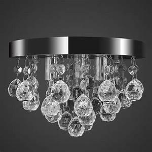 Lustre Cristal Moderne : lustre plafonnier contemporain cristal lampe chrom achat vente lustre plafonnier contempor ~ Teatrodelosmanantiales.com Idées de Décoration